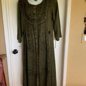 NWT..RADHA boho plus size  embroidery dress